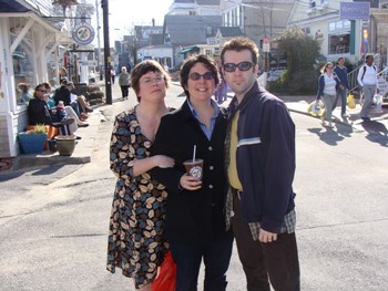 Sarah, Gianna and Scottie on Commercial St.