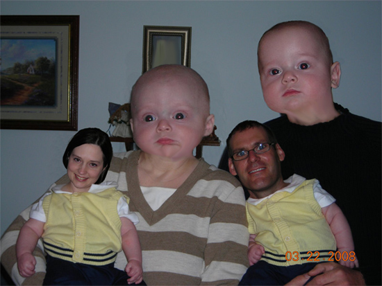 Scary baby heads on adults and vice versa