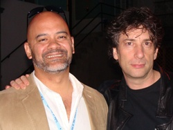 Me and Neil Gaiman at a HarperCollins Party