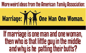 Marriage Threesome Bumper Sticker
